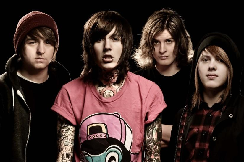 Preview wallpaper bring me the horizon, tattoo, print, haircut, piercing  1920x1080