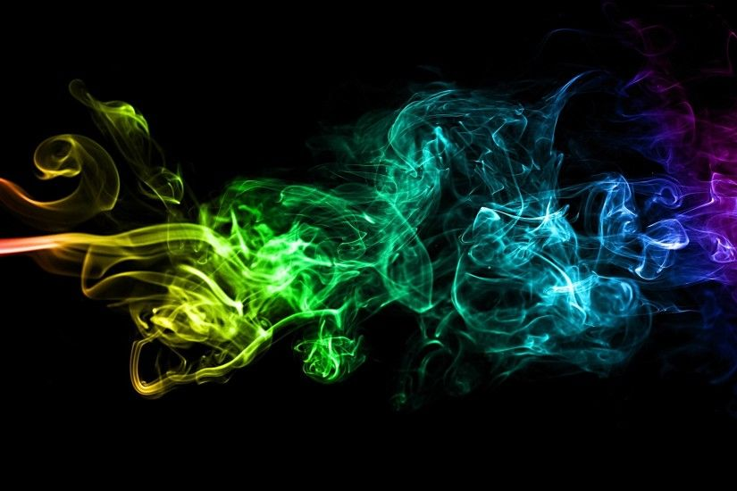 nice Abstract Colorful Smoke Art Background Image