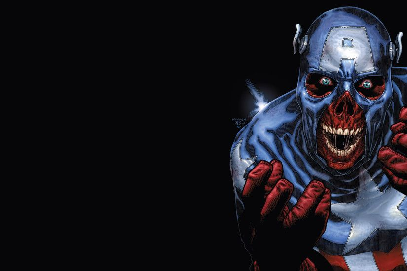 Preview wallpaper captain america, marvel, zombie art 3840x2160