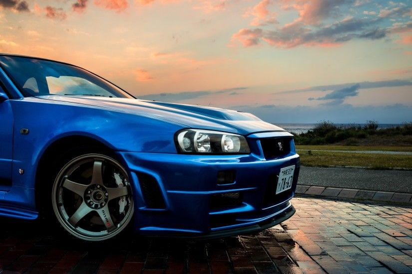 Nissan, Nissan Skyline GT R R34, Car, Blue, JDM Wallpapers HD / Desktop and  Mobile Backgrounds