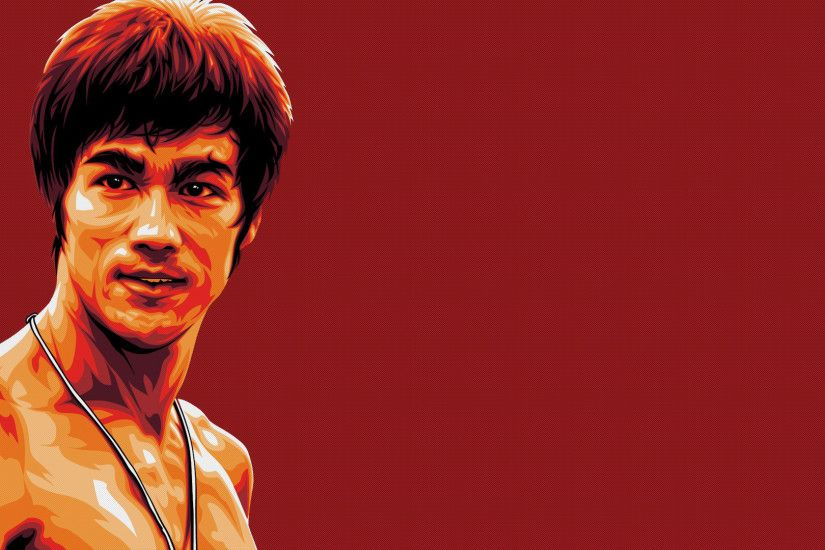 Preview wallpaper bruce lee, fighter, actor, face, art 1920x1080