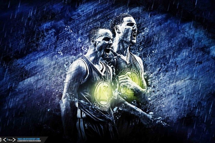 Steph Curry & Klay Thompson wallpaper by http://tmaclabi.deviantart.com