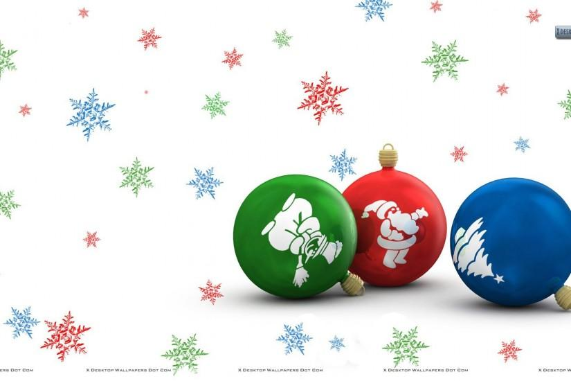 Christmas Bulbs With White Decorated Background Download 16 ...