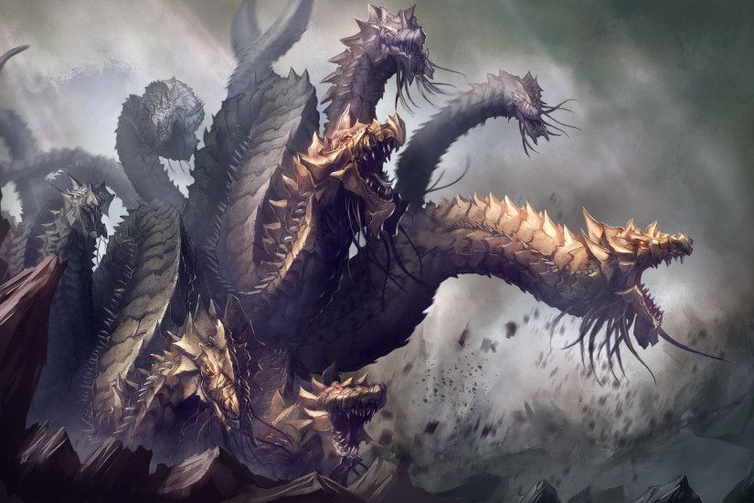 Fantasy - Hydra Creature Wallpaper
