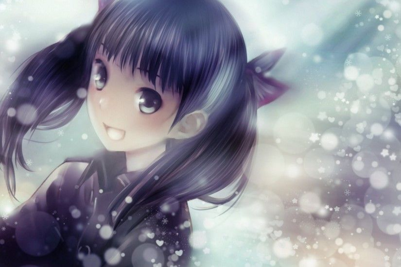 Download Cute Girl Dazzling Anime Wolf Wallpaper In Many Resolutions