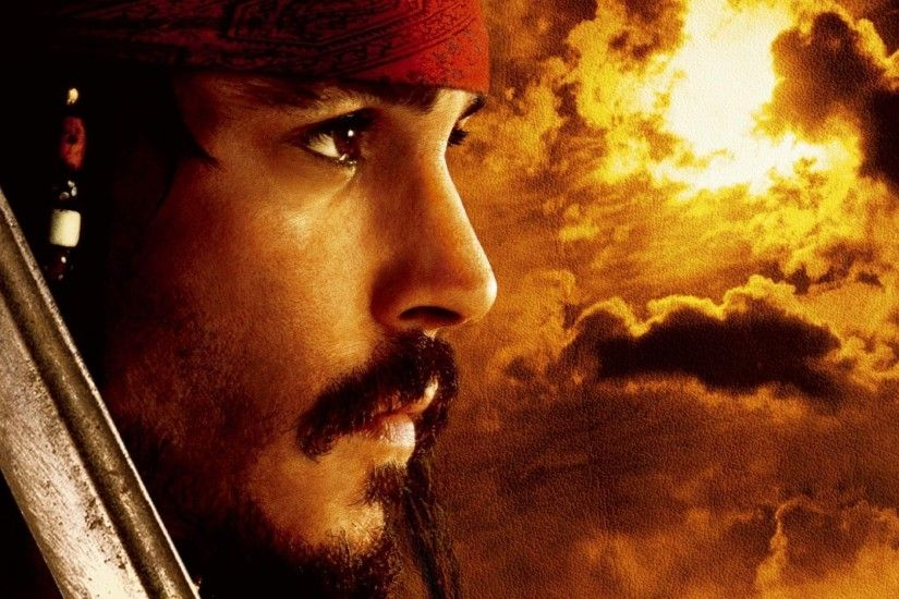 Movie - Pirates Of The Caribbean: The Curse Of The Black Pearl Johnny Depp  Jack