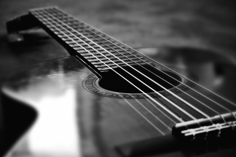 acoustic guitar black and white wallpapers hd hd wallpapers desktop images  windows wallpapers amazing colourful 4k picture artwork lovely 1920×1080 ...