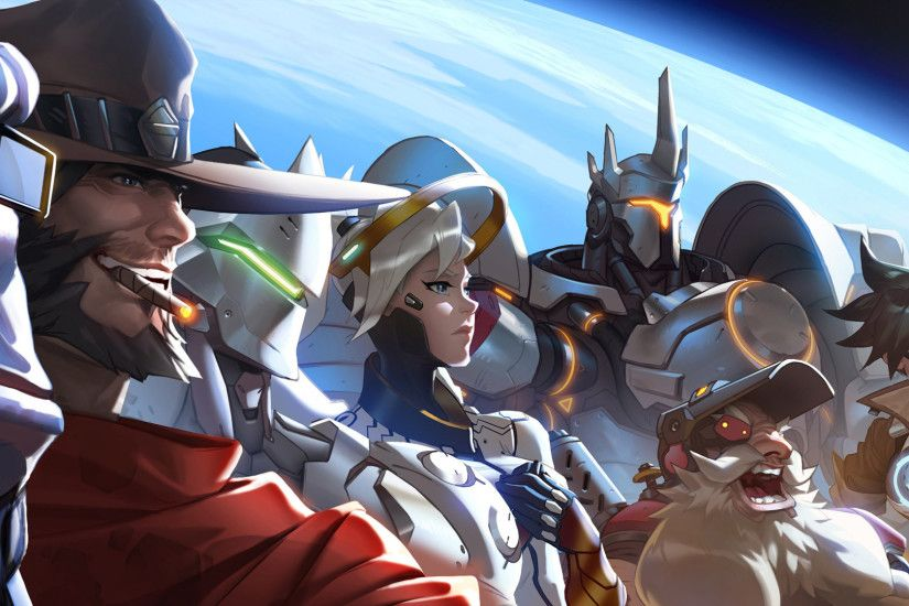 Get This Overwatch Anime Ps Wallpaper Download This Great Theme And  Transform Your Dashboard