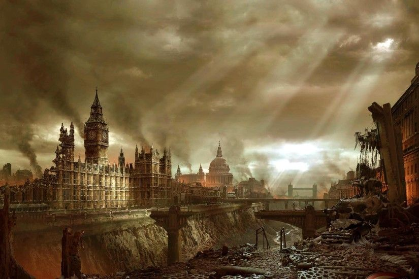 Post apocalyptic computer wallpapers desktop backgrounds 1440x800 -  Apocalyptic City Original Background Desktop 1920x1200