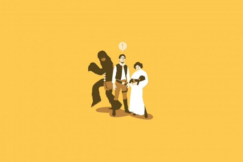 Preview wallpaper star wars, characters, drawing 2560x1440