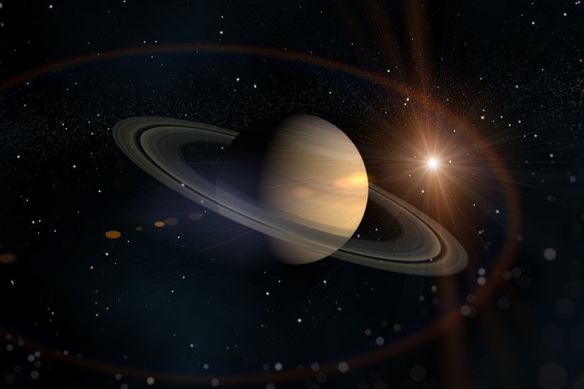 Saturn Solar System Wallpaper