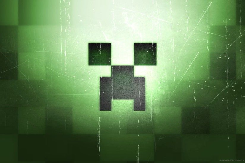 Minecraft Creeper Face - wallpaper.