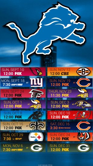 Detroit Lions 2017 schedule turf logo wallpaper free iphone 5, 6, 7, ...