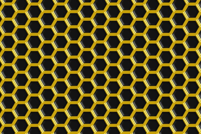 ... Black Gold Hex Background 3000x1875px by l4k3
