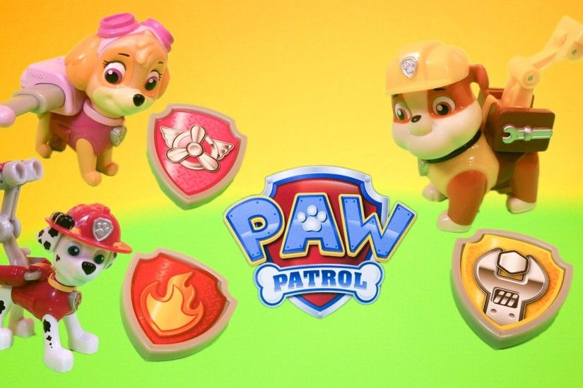 PAW PATROL Nickelodeon Paw Patrol Skye, Marshall, and Rubble Pup Packs Toys  Video Unboxing - YouTube