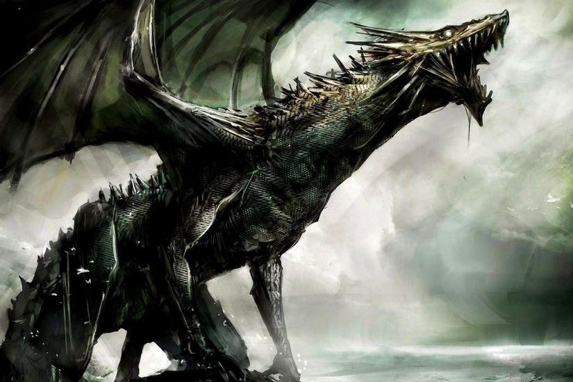 artwork, Dragon, Fantasy Art, Concept Art, Dark, Spooky Wallpapers HD /  Desktop and Mobile Backgrounds