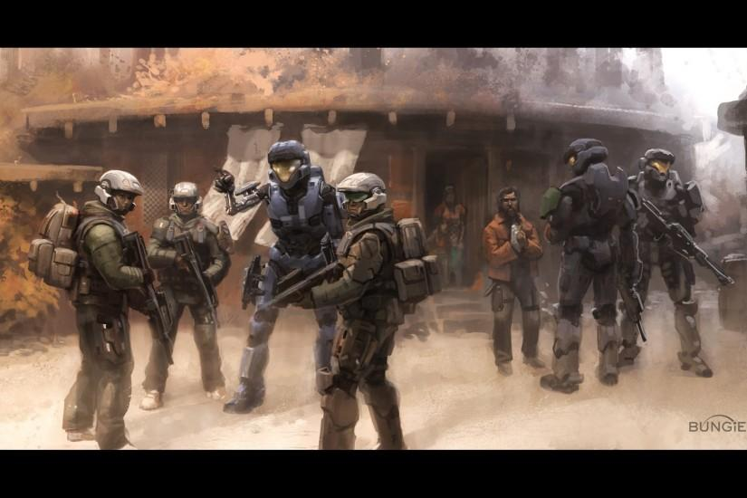 Halo science fiction assault rifle Bungie Marines wallpaper background .