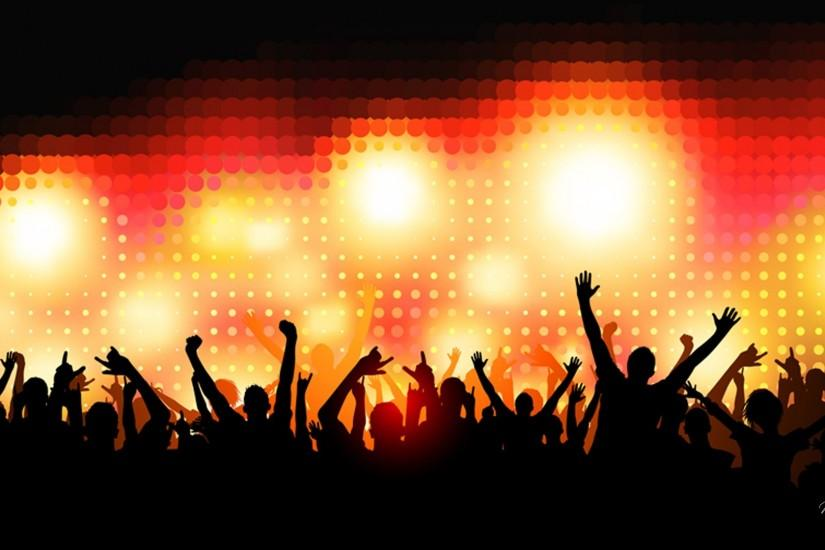 Crowd of Party People Crowd of Party People – vector background. Scalable  to any size also includes high resolution JPEG .