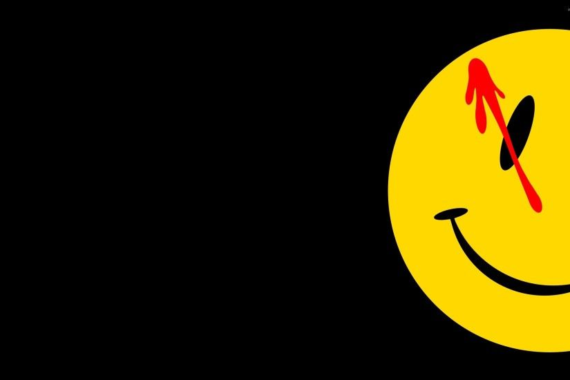 Comedian's badge reaching from the darkness - Watchmen wallpaper 2880x1800  jpg
