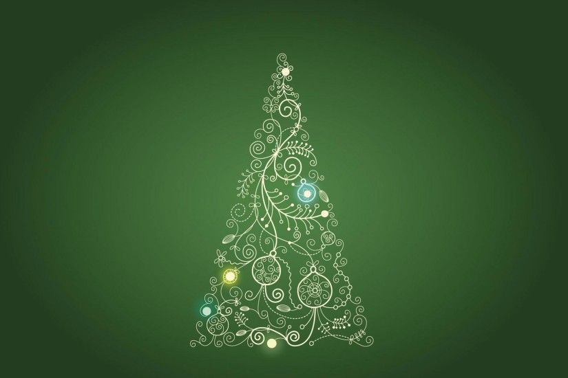 Green Christmas Tree HD Wallpaper. « »