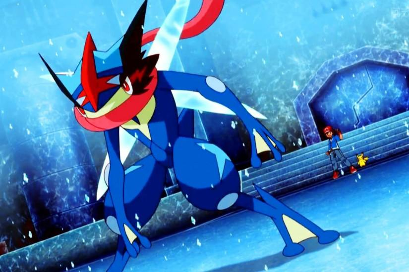 Pokemon XY And Z Episode 29 - Ash's Greninja Vs Mega Abomasnow
