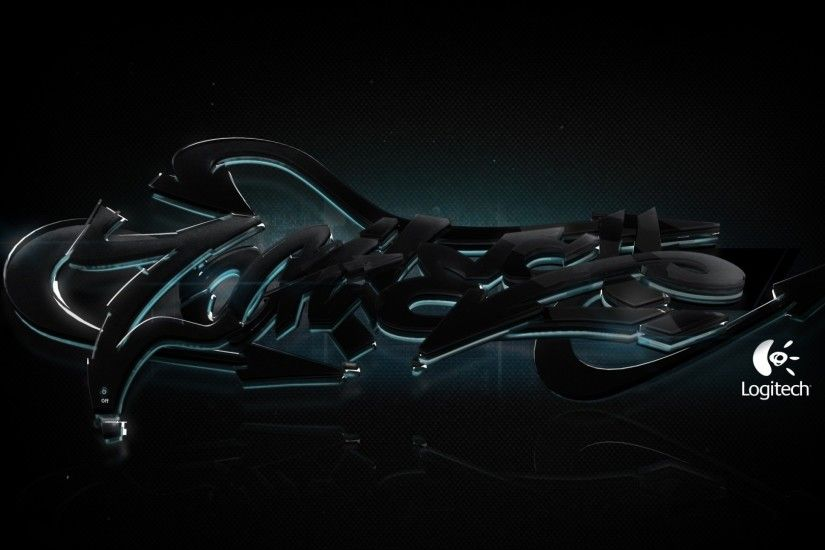 1920x1080 Wallpaper logitech, firm, equipment, logo, black