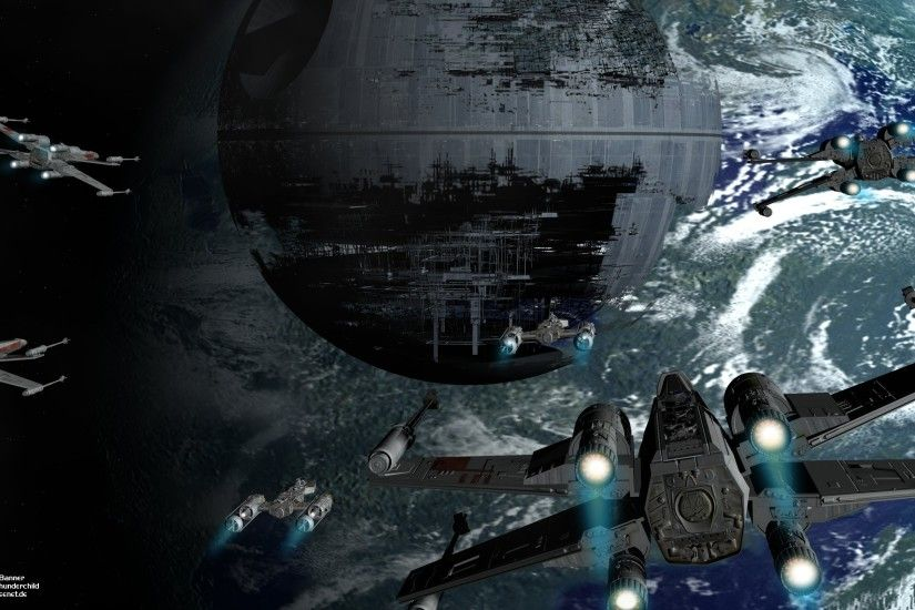 Movie - Star Wars X-Wing Death Star Space Sci Fi Wallpaper