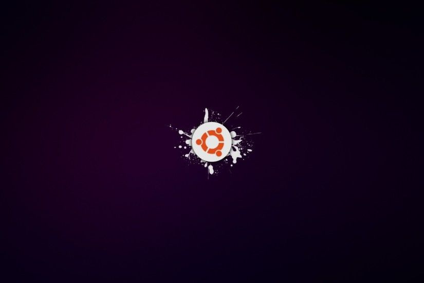 Download now full hd wallpaper ubuntu linux logo spray ...