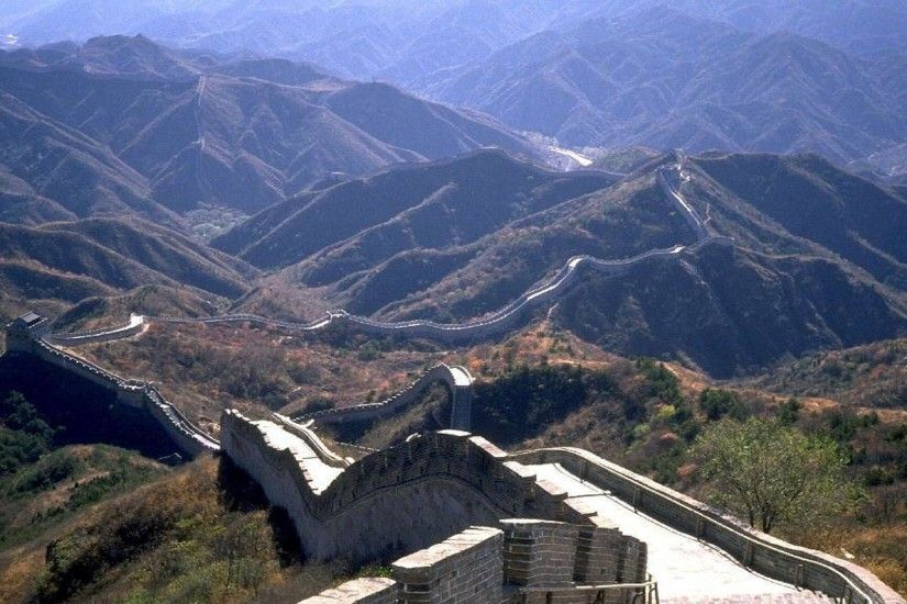 Full View Of Great Wall Of China Wallpaper