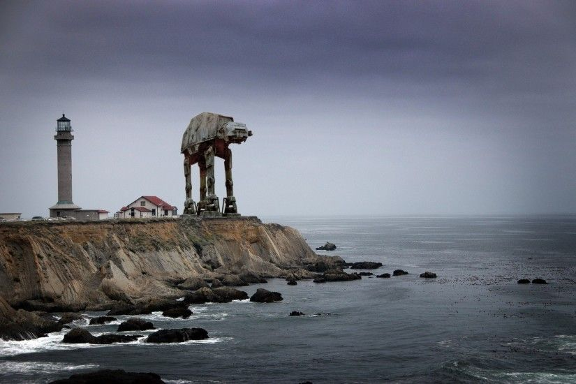 AT-AT Near The Lighthouse