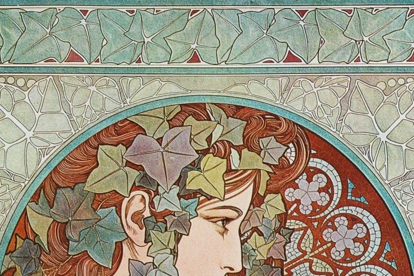 Free Alphonse Mucha Wallpapers Photo Â« Long Wallpapers