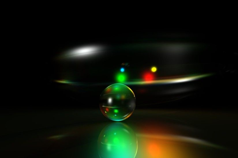 Preview wallpaper neon, green, ball, bright, light 1920x1080