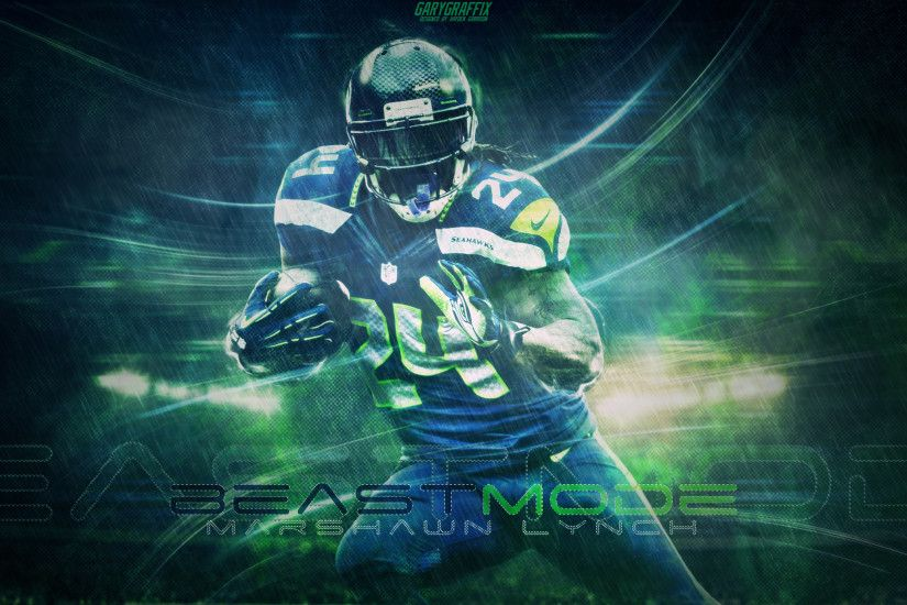 "Marshawn Lynch ""Beast Mode"" Wallpaper"