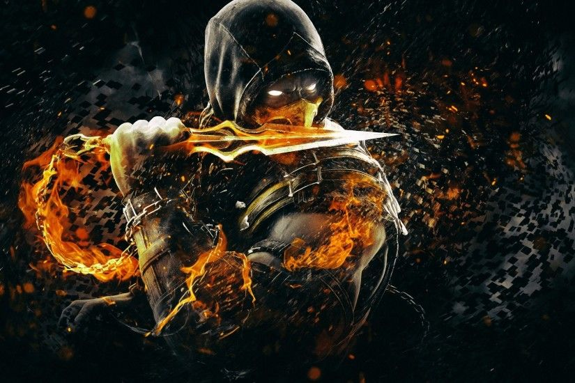 Scorpion Mortal Kombat X Art Hd Wallpaper [1920 x 1080] Need #iPhone #6S  #Plus #Wallpaper/ #Background for #IPhone6SPlus? Follow iPhone 6S Plus 3Wa…