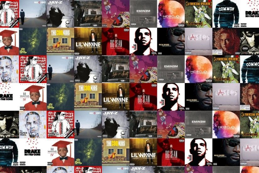 Download this free wallpaper with images of Wayne – Dedication 3, Eminem –  Recovery, Jay Z – Blueprint, Biggie Smalls – Life After Death, ...