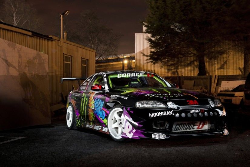 toyota soarer monster energy drift car toyota drift night to