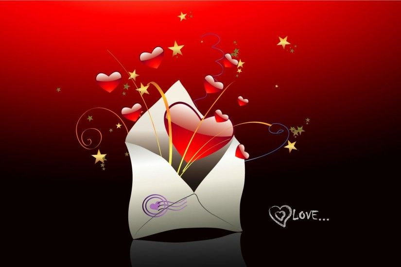 Love You Heart Background.