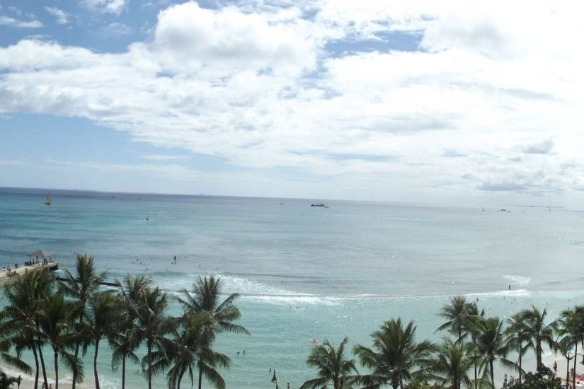 View from Waikiki Beach Hawaii wallpaper | 3840x1200 | 572010 | WallpaperUP