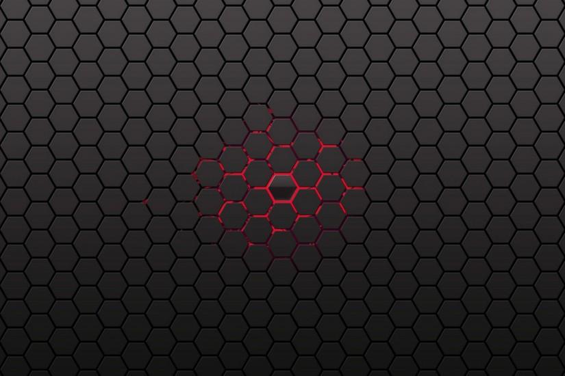 Honeycomb red center black abstract pics