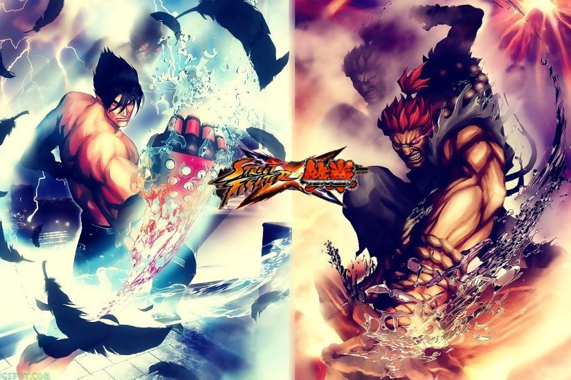 Movies Music Anime: My Street Fighter X Tekken Jin, Akuma Wallpaper .