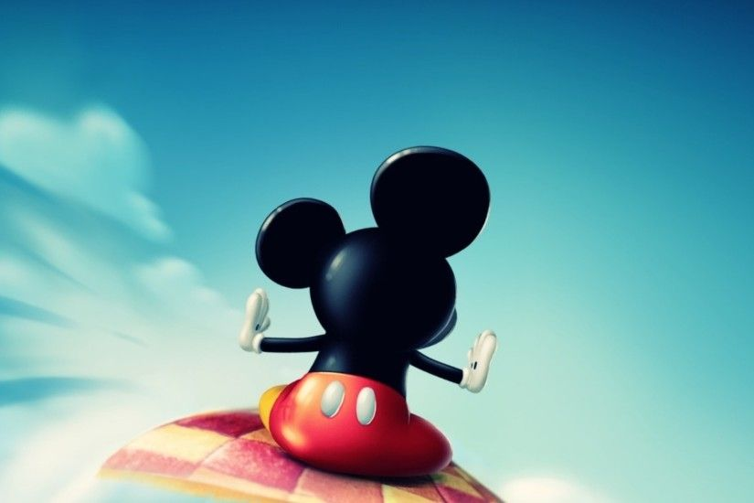 Preview wallpaper mickey mouse, fly, sky, toon 2048x2048