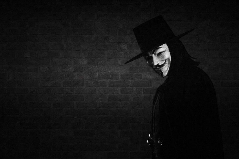 hat, wall, mask, V for vendetta wallpapers and images - wallpapers .