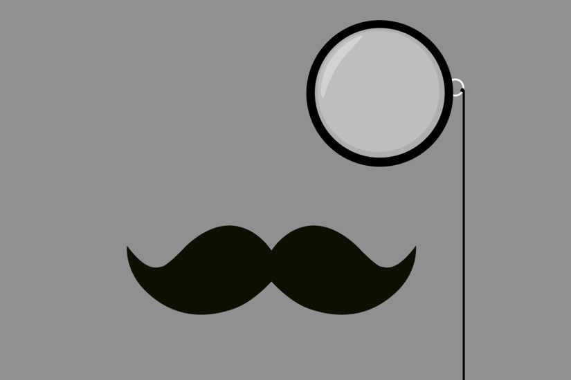 Classy Mustache and Monocle iPad Wallpaper HD #iPad #wallpaper
