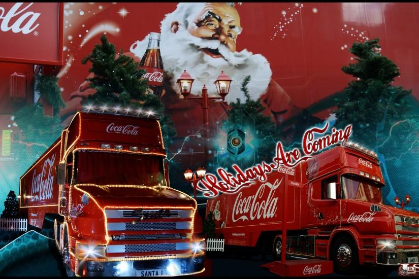 CocaCola- images Coca-Cola ChristmasTruck Holidays Are Coming HD wallpaper  and background photos