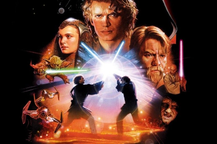 Movies Star Wars Episode III - The Revenge Of Sith Anakin Skywalker Padme  Amidala Obi-Wan Kenobi