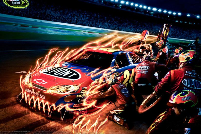 Jeff gordon · Nascar Fire Art Wallpaper