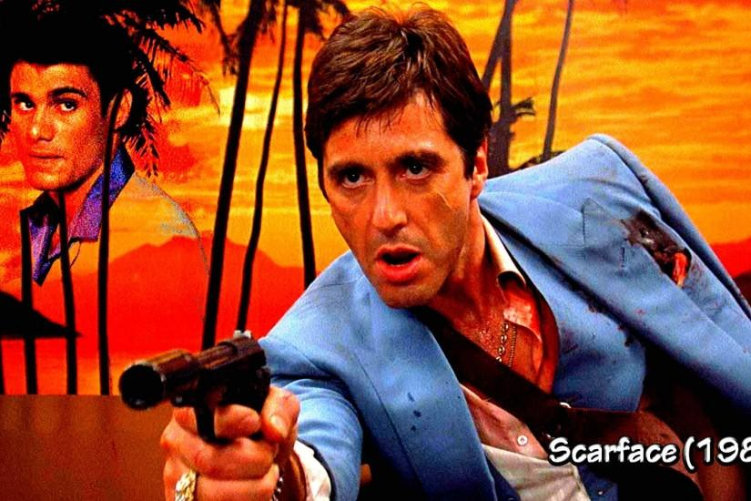 SCARFACE crime drama movie film weapon gun blood sunset dark wallpaper |  1920x1080 | 333960 | WallpaperUP