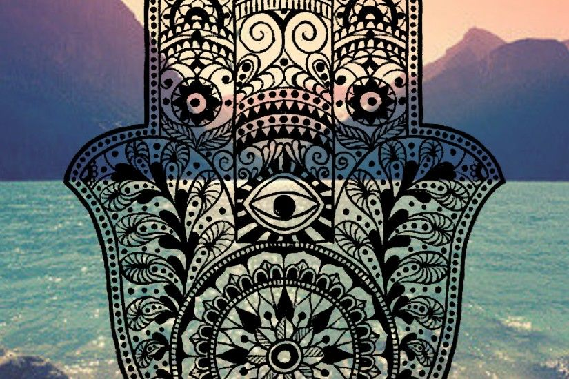 Hamsa iPhone Background mountain ocean tumblr evil eye hams hand henna