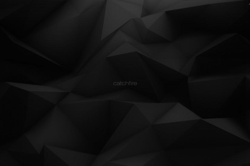 Catchfire on dark gray polygons wallpaper 2880x1800 jpg
