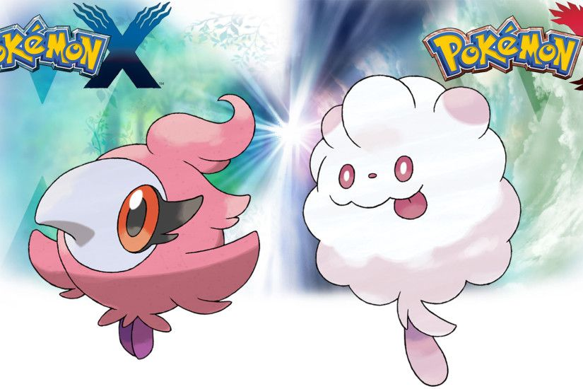 ... Pokemon X Y - Wallpaper - Spritzee and Swirlix by Thelimomon